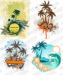 4 coconut trees theme vector graphic graphic hive