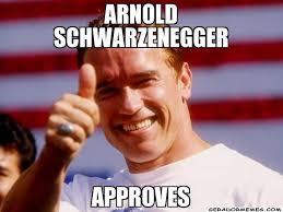 Schwarzenegger Meme - arnold schwarzenegger approves personalizado gerador memes