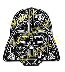 cut designs darth vader sugar skull cut design