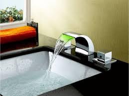 Bathroom Sink Handles Sumerain Double Handle Widespread Led Waterfall Bathroom Sink