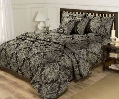 Gold Quilted Bedspread Superking Duvet Set Cushion Covers U0026 Throw Set 6 Piece Black
