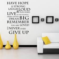 have hope never give up inspirational wall stickers wall decals have hope never give up inspirational wall stickers wall decals wall quotes vinyl mural poster 20