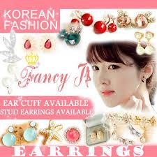 ear cuffs singapore qoo10 buy 10 get 1 free fancy j ear cuff stud earrings