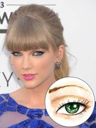 deep set eyes like taylor swift s have a prominent brow bone and distinctive crease