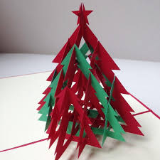 3d green tree handmade creative kirigami origami