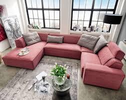 Esszimmer Sofa Modern Weinrote Wohnlandschaft Bernis Großzügig In Der U Form Bietet