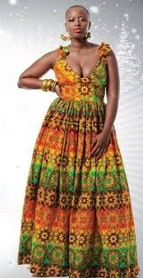 african print maxi dress on the hunt
