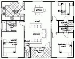 3 bedroom ranch house floor plans 3 bedroom house floor plans in kenya