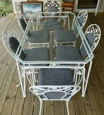 Retro Patio Furniture Sets Vintage Wrought Iron Patio Or Sun Room Table And Chair Set Table