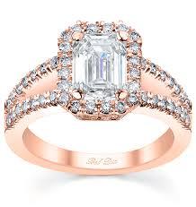 unique gold engagement rings split shank halo gold engagement ring