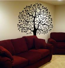 large tree wall decal living room decor tikspor large size awesome wall tree decal pics design ideas