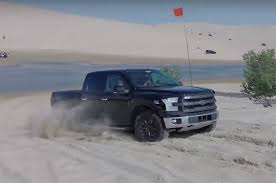 watch a 2017 ford f 150 raptor prototype rip through sand dunes