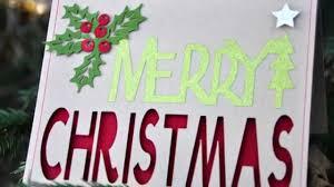 merry christmas card with cricut explore youtube