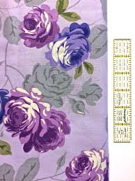 purple floral quilting fabric laura ashley print cotton apparel