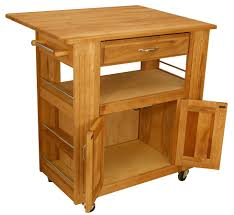 Kitchen Island Cart With Drop Leaf by Catskill Butcher Block Island Cart With Drop Leaf