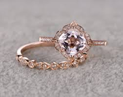 art deco rose gold engagement rings wedding promise diamond