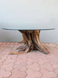 Trunk Like Coffee Table by Tree Stump Coffee Table 8388 Trunk Glass Top Make Thippo