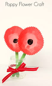 poppy flower craft make and takes