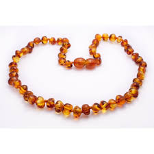 amber beads necklace images Baltic amber children baby teething necklace cognac baroque beads jpg