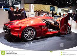 koenigsegg switzerland koenigsegg resera in geneva editorial stock image image 68093174