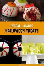 eyeball themed halloween treats