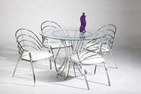 chair a stunning metal dining room furniture sets including