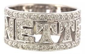 diamond name rings images 18kt white gold diamond name ring cohen bros jpg