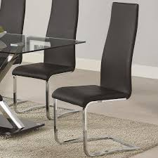 Black Modern Dining Room Sets Amazon Com Coaster 100515blk Dining Chair Black Faux Leather