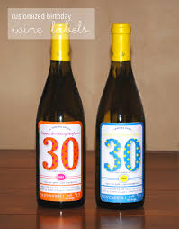 wine birthday customized birthday wine labels lemons and letterpress
