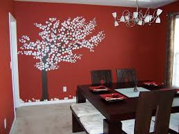 diy dining room wall decor dark leather uphostered dining chairs