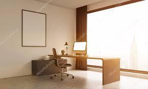 le de bureau york salle de bureau avec grande fenêtre et affiche sur le mur
