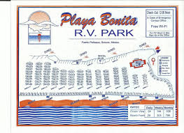 Puerto Penasco Map Playa Bonita R V Park