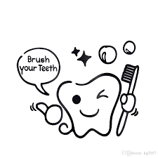 home decoration items online shopping brush teeth stickers online brush teeth stickers for sale