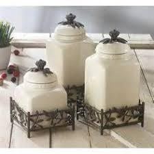 where to buy kitchen canisters canister sets 3pc canister set w 3 metal stands white