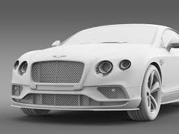 bentley white 2015 bentley continental gt speed 2015 by creator 3d 3docean