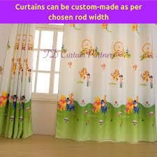 kids bedroom cartoon green curtain design fabric drapes eyelet rod