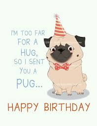 happy birthday pug greeting card available at etsy com shop