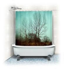Shower Curtains With Trees Gray And Coral Shower Curtain Shower Curtain Pinterest