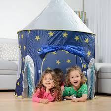 amazon com rocket ship play tent spaceship playhouse for kids