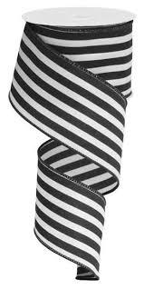 black and white striped ribbon 2 5 vertical stripe ribbon black white 10yds rx9136x6