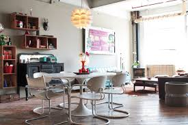 Funky Dining Room Tables My Houzz Vintage Finds In Funky Montreal Artists U0027 Loft