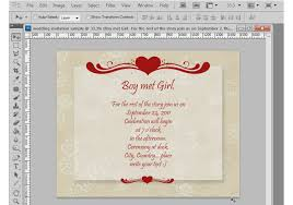 photoshop tutorial how to make a wedding invitation
