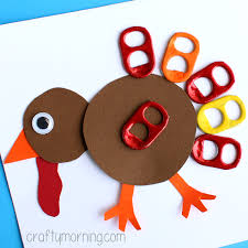 pop can tab turkey craft for thanksgiving crafty morning