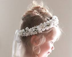 flower girl hair flower girl crown etsy