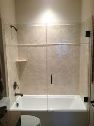Shower Door Tub Inline Frameless Shower Enclosure Frameless Steam Shower Va