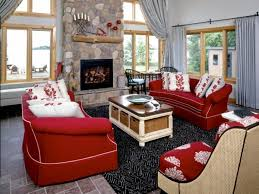 Red Living Room Chair by Black And Red Living Room White Cozy Sofa White Marble Flooring