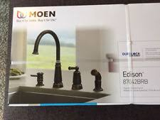 moen edison high arc kitchen faucet 87042brb mediterranean bronze