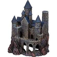 aquarium castle decoration ornament magical wizard ruins large resin