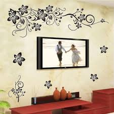large vine flowers wall stickers decal mural removable home decor see larger image