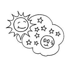 coloring pictures of sun moon and stars coloring pages ideas